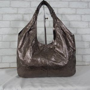 Coach 14968 Julie Gunmetal Leather Hobo Tote Bag